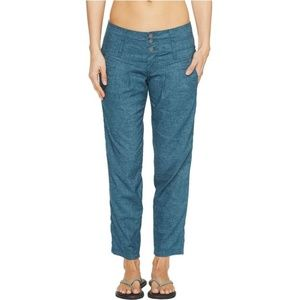 prAna Lizbeth Hemp Pants Ankle Crop Size 4 Women's